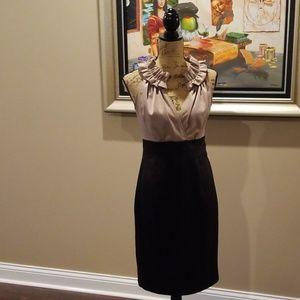 Donna Ricco cleavage tan black dress Rk:5:319